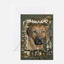 Fathers Day Stone Paws Ridgeback Greeting Card