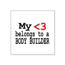 "bodybuilder2.png Square Sticker 3"" x 3"""