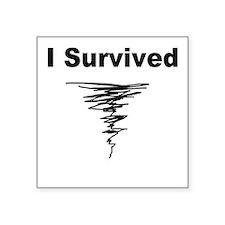 "survived.jpg Square Sticker 3"" x 3"""