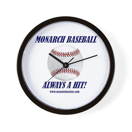 Monarch Baseball Wall Clock