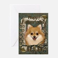 Fathers Day Stone Paws Pom Greeting Card