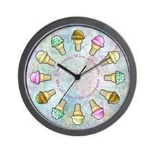 Unique Ice cream cone Wall Clock