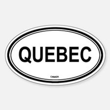 Quebec, Canada euro Oval Decal