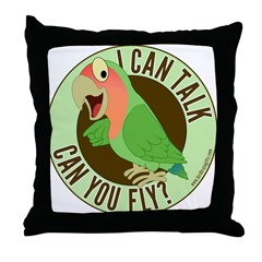 I Can Talk, Can You Fly? Peachface Lovebird Throw