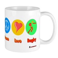 Peace Love Rugby 6000.png Mug