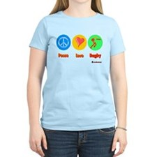 Peace Love Rugby 6000.png T-Shirt