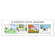 The Four Seasons Keeshond Bumper Bumper Sticker