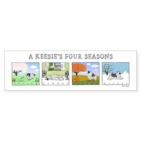 The Four Seasons Keeshond Sticker (Bumper 50 pk)