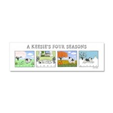 The Four Seasons Keeshond Car Magnet 10 x 3