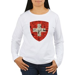 Swiss Coat of Arms Distressed T-Shirt