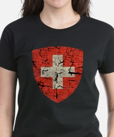 Swiss Coat of Arms Distressed Tee