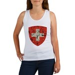 Swiss Coat of Arms Distressed Women's Tank Top