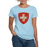 Swiss Coat of Arms Distressed Women's Light T-Shir