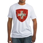 Swiss Coat of Arms Distressed Fitted T-Shirt