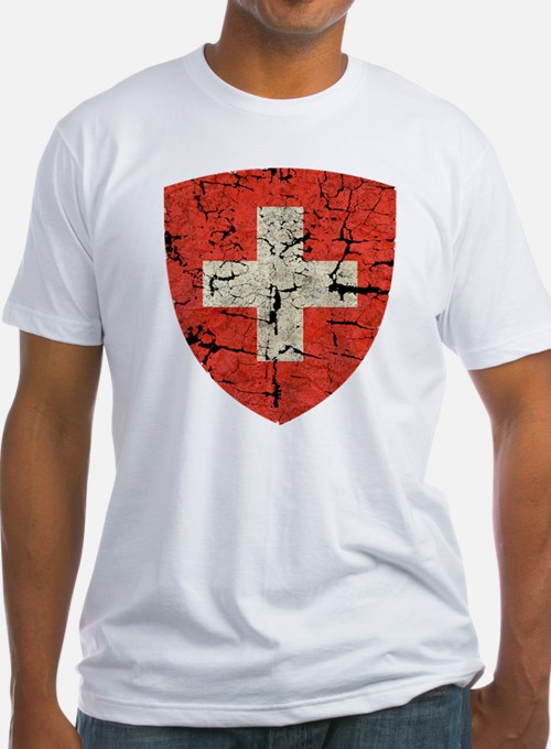 Swiss Coat of Arms Distressed Shirt