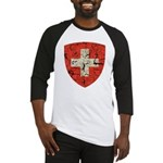 Swiss Coat of Arms Distressed Baseball Jersey