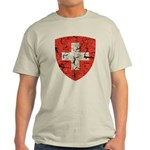 Swiss Coat of Arms Distressed Light T-Shirt