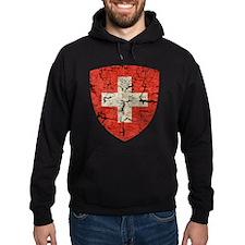 Swiss Coat of Arms Distressed Hoodie