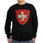 Swiss Coat of Arms Distressed Sweatshirt (dark)
