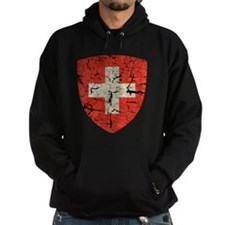 Swiss Coat of Arms Distressed Hoodie