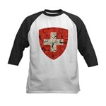 Swiss Coat of Arms Distressed Kids Baseball Jersey