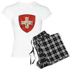 Swiss Coat of Arms Distressed Pajamas