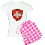 Swiss Coat of Arms Distressed Women's Light Pajama