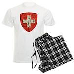 Swiss Coat of Arms Distressed Men's Light Pajamas