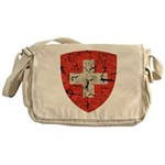Swiss Coat of Arms Distressed Messenger Bag