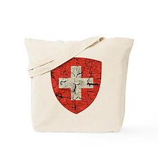 Swiss Coat of Arms Distressed Tote Bag
