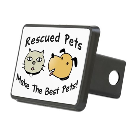 Rescued Pets - The Best Pets Rectangular Hitch Cov