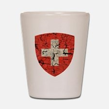 Swiss Coat of Arms Distressed Shot Glass