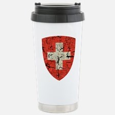 Swiss Coat of Arms Distressed Travel Mug