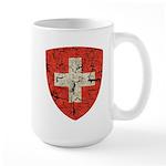 Swiss Coat of Arms Distressed Large Mug