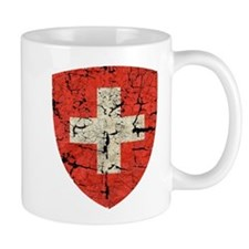 Swiss Coat of Arms Distressed Mug
