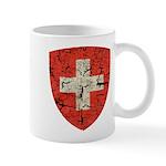 Swiss Coat of Arms Distressed Mug