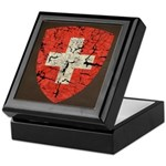 Swiss Coat of Arms Distressed Keepsake Box