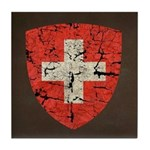 Swiss Coat of Arms Distressed Tile Coaster