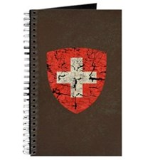 Swiss Coat of Arms Distressed Journal