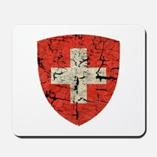 Swiss Coat of Arms Distressed Mousepad
