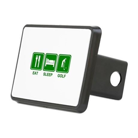 EAT SLEEP GOLF (grn) Rectangular Hitch Cover