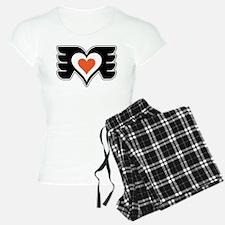 Black and Orange Love Pajamas