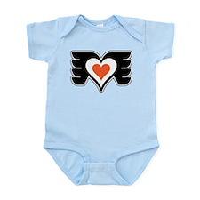 Black and Orange Love Infant Bodysuit
