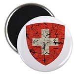 Swiss Coat of Arms Distressed Magnet