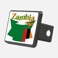 Flag ribbon Zambia Hitch Cover