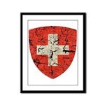 Swiss Coat of Arms Distressed Framed Panel Print
