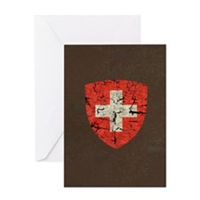 Swiss Coat of Arms Distressed Greeting Card