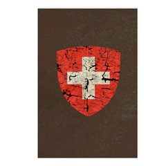 Swiss Coat of Arms Distressed Postcards (Package o