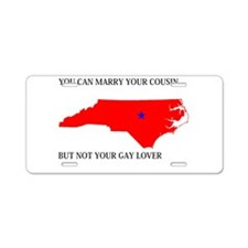 North Carolina Gay Ban Aluminum License Plate