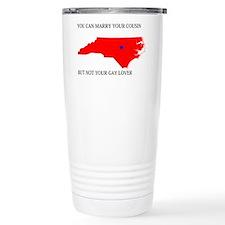 North Carolina Gay Ban Travel Mug